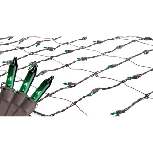 Northlight 150ct Mini Trunk Wrap Net Lights Green - 2' x 8' Brown Wire - image 1 of 3