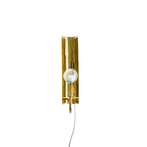 """16.5"""" x 4.7"""" Brass Wall Sconce with In-Line Switch Gold - 3R Studios - image 1 of 2"""