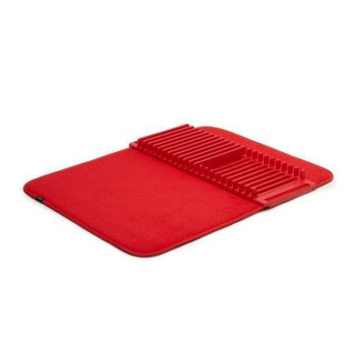 Plastic Udry Dish Drying Mat Red - Umbra