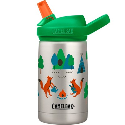 CamelBak Eddy+ 12oz Vacuum Insulated Stainless Steel Kids' Water Bottle - Camping Foxes