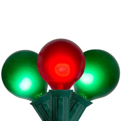 Northlight 15-Count Red and Green G50 Globe Christmas Light Set, 13.5 ft Green Wire