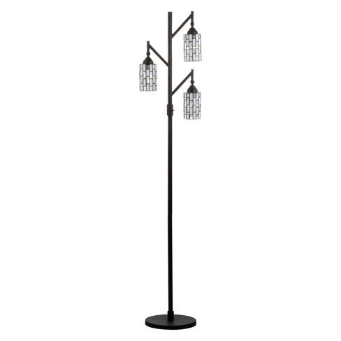 "71"" Lewis tiffany Style Multi Light LED Floor Lamp Bronze (Includes Energy Efficient Light Bulb) - JONATHAN Y - image 1 of 4"