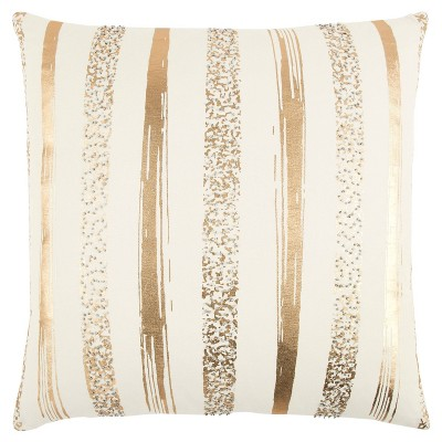 """20""""x20"""" Oversize Striped Square Throw Pillow - Rizzy Home"""