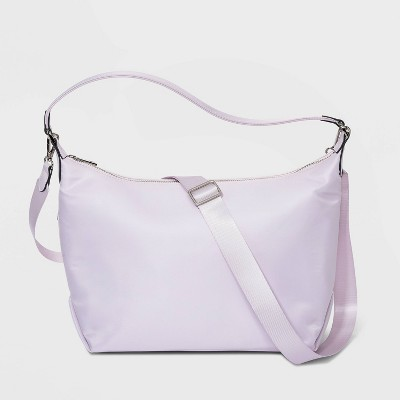 Zip Closure Shoulder Handbag - A New Day™ Lilac