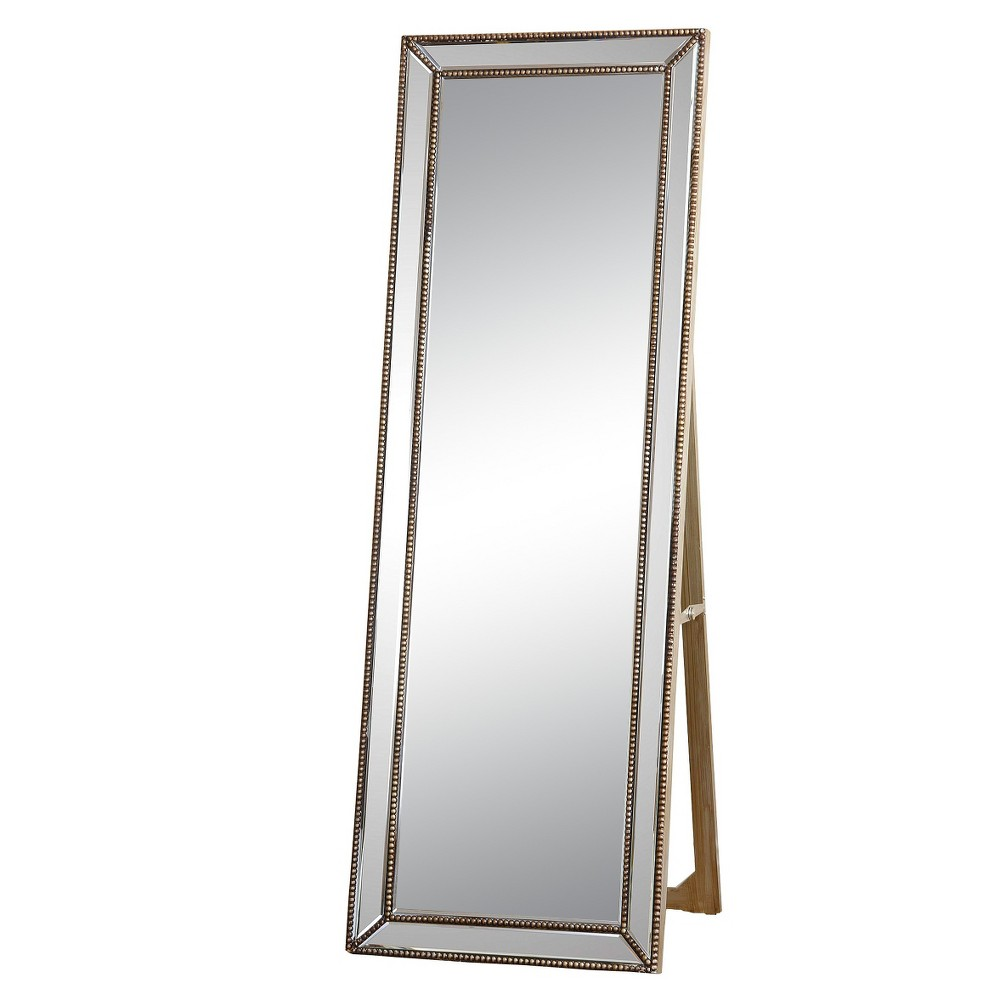 Courtney Rectangle Floor Mirror Gold - Abbyson Living