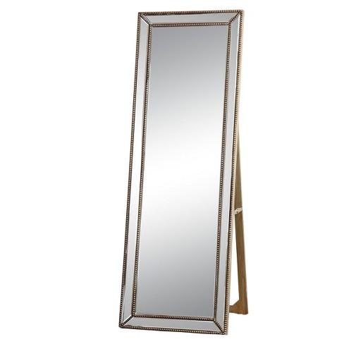 Courtney Rectangle Floor Mirror Gold Abbyson Living Target