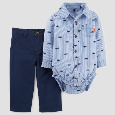 Baby Boys' 2pc Buttondown and Pants Set - Just One You™ Made by Carter's® Blue 6M