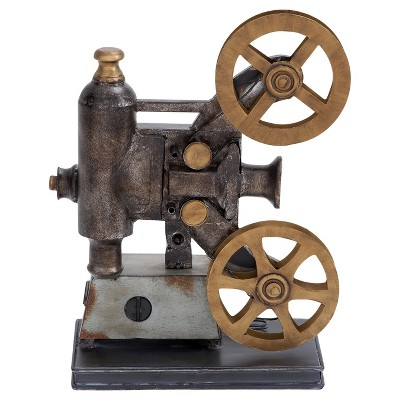Vintage Reflections Rustic Iron Movie Projector and Film Reels (14 )- Olivia & May