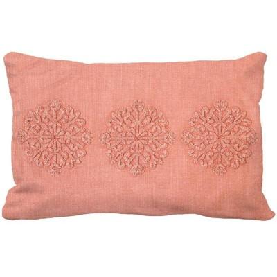 Medallion Garment Washed Lumbar Pillow Pink - Threshold™