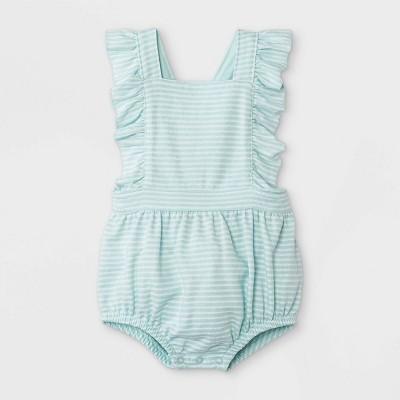 Baby Girls' Textured Romper - Cat & Jack™ Mint 6-9M