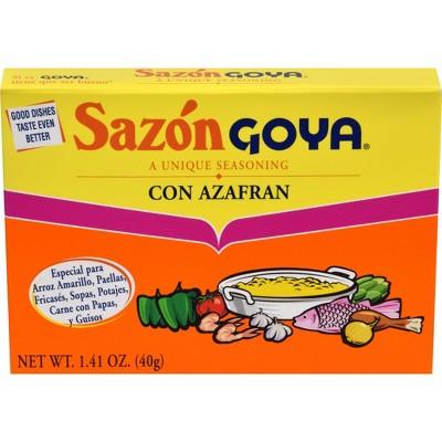 Sauces & Marinades: Sazón Goya con Azafran