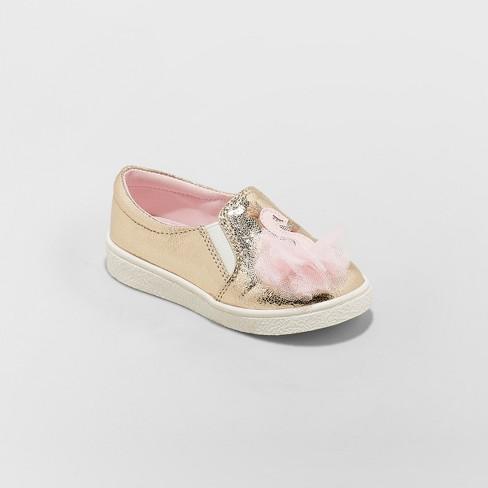 Toddler Girls' Isolde Swan Slip on Sneakers - Cat & Jack™ Gold - image 1 of 3