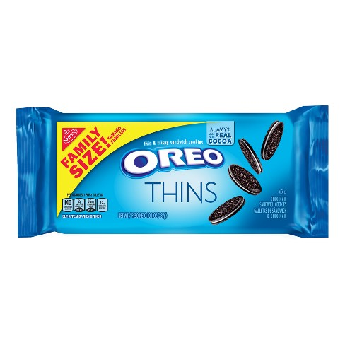 Oreo Thins Chocolate Cookies - Family Size - 13.1oz - image 1 of 4