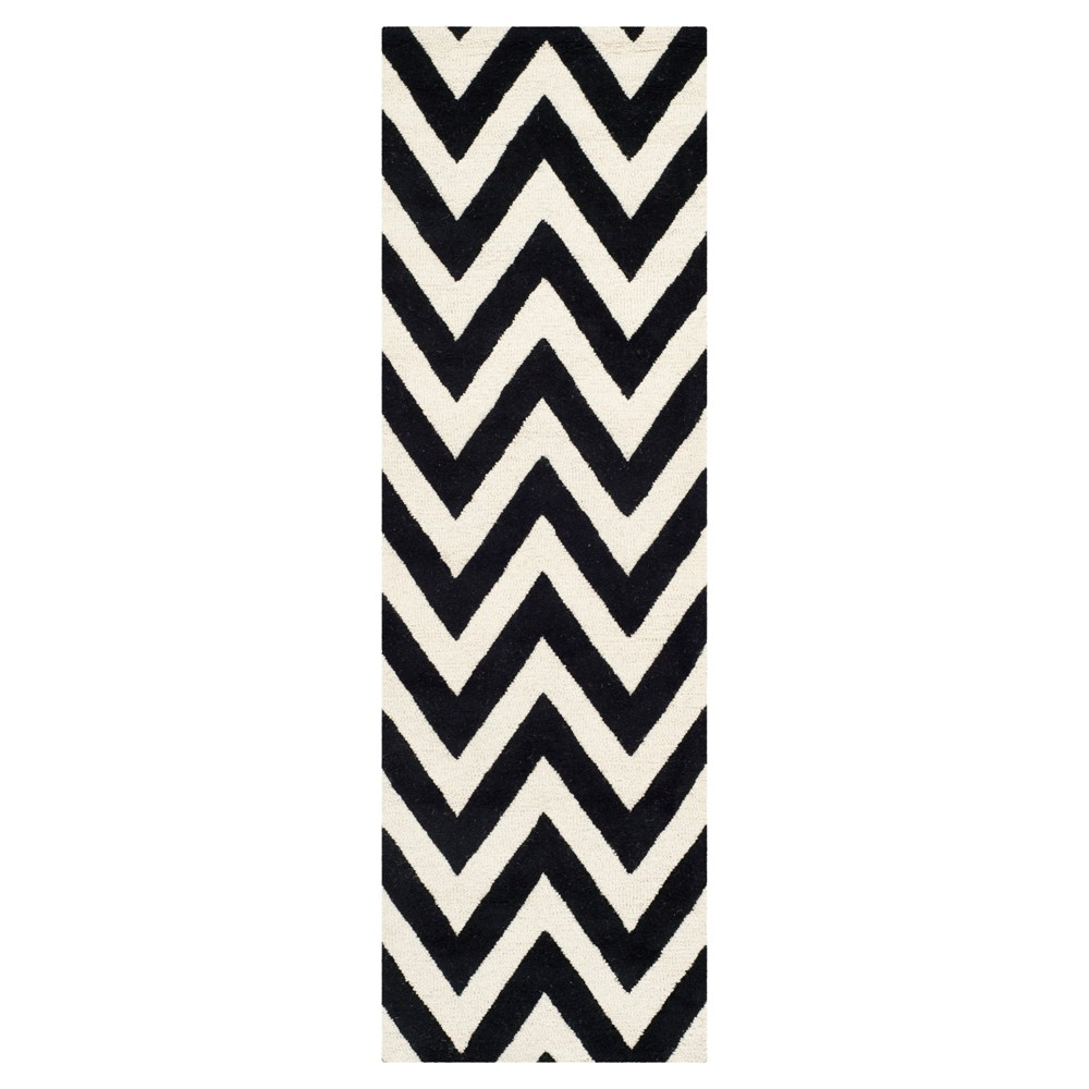 Dalton Textured Rug - Black / Ivory (2'6 X 10') - Safavieh, Black/Ivory