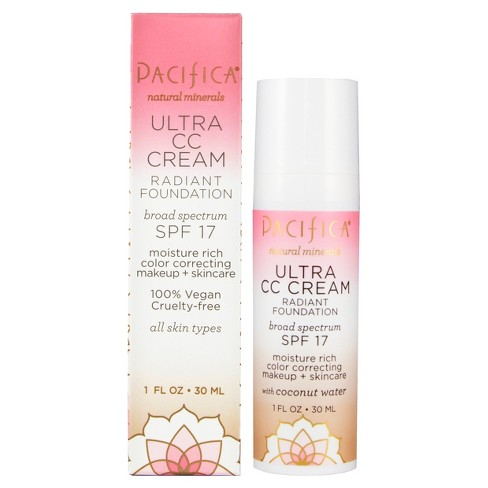 Pacifica Ultra CC Cream Radiant Foundation SPF 17 Warm/Light 1 fl oz - image 1 of 4