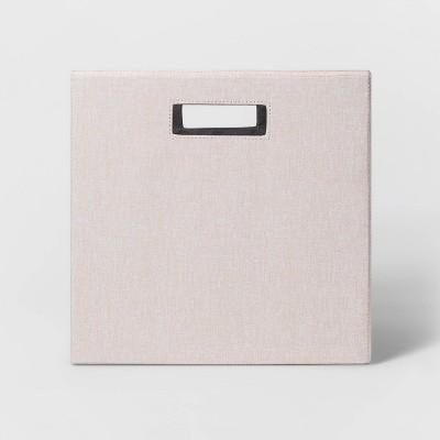 "13"" Fabric Cube Storage Bin Textured Peach - Threshold™"
