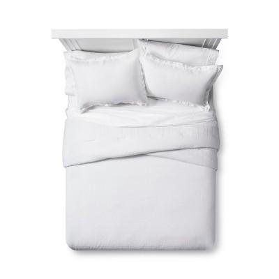 White Linen Comforter Set (Full/Queen)- Fieldcrest®