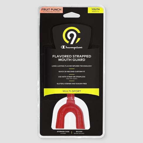 C9 Champion® Youth Strap Mouthguard With Fruit Punch Flavor - Red - image 1 of 2