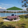 Z-Shade 10 x 10 Foot Angled Leg Instant Shade Outdoor Canopy Tent Portable Gazebo Shelter for Camping or Backyard Grilling, Green - image 2 of 2
