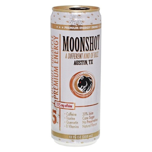 Moonshot Coconut Pineapple Energy Drink - 12 fl oz Can - image 1 of 1