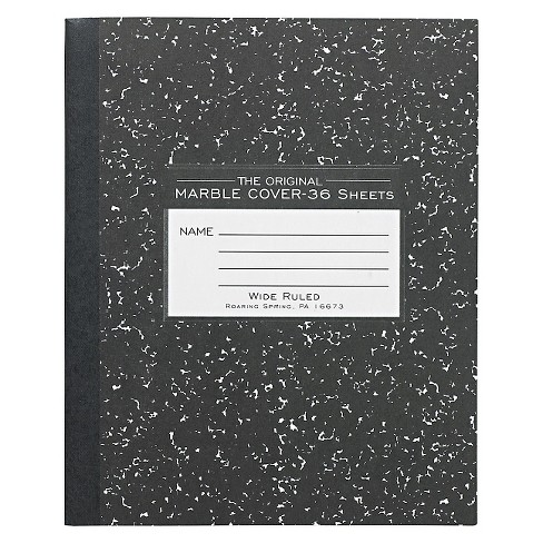 Roaring Spring® Composition Notebook Wide Ruled - Black - image 1 of 1