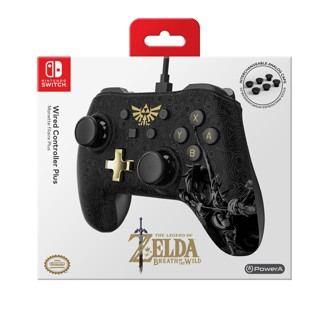 PowerA Wired Controller Plus for Nintendo Switch - Zelda: Breath of the Wild
