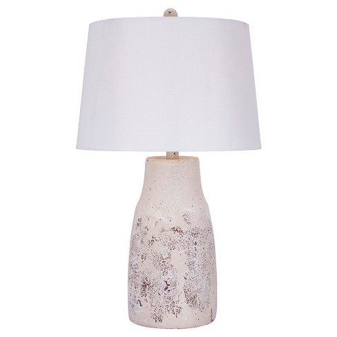 "Nature Ceramic Table Lamp - 26""H - Distressed White - image 1 of 3"