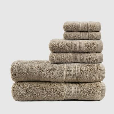 6pc Air Rich Innovative Technology Bath Towel Set Sand - Trident Group