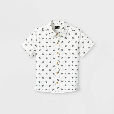 Toddler Boys' 'Arrows' Button-Down Shirt - art class™ White