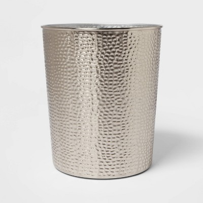 Solid Hammered Wastebasket - Threshold™
