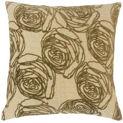 """Tan Square Throw Pillow (20""""x20"""") - The Pillow Collection"""