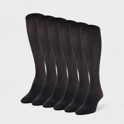 Women's Peds 6pk Light Opaque Trouser Socks