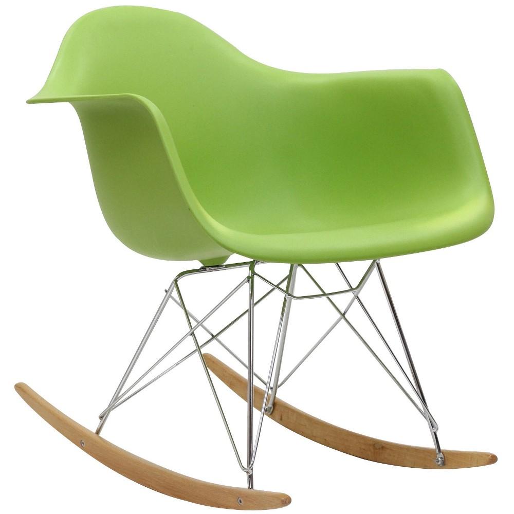 Rocker PP Plastic Lounge Chair Green - Modway