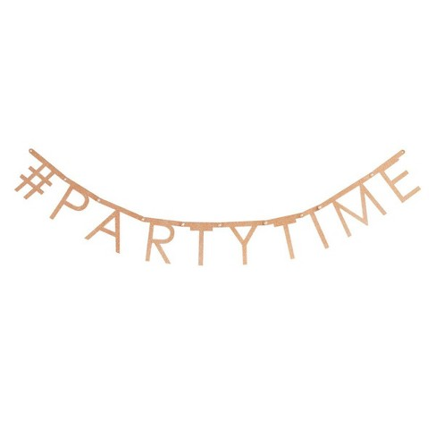 Create Your Own Party Garland Rosegold - Spritz™ - image 1 of 2