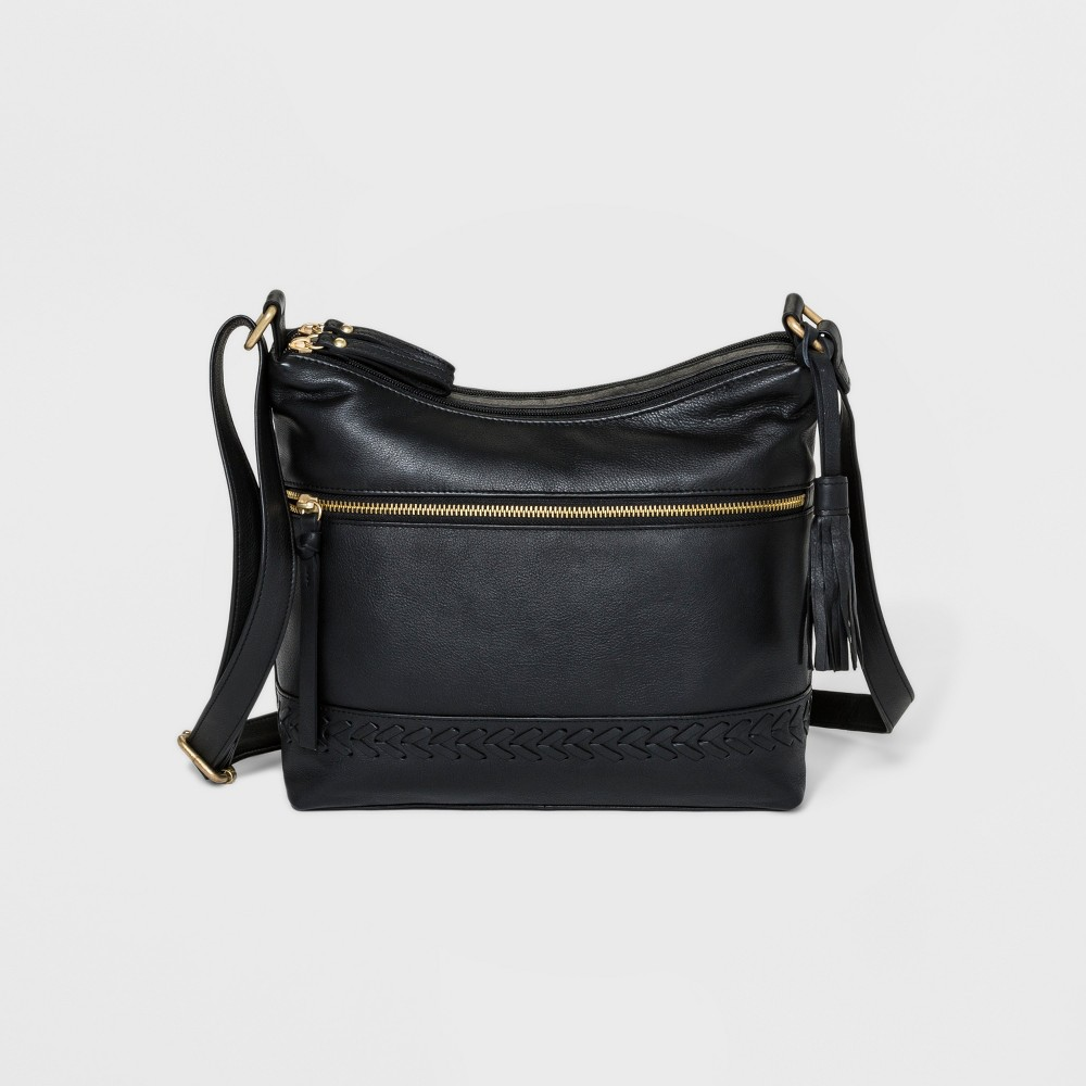 Image of Great American Leather Hobo Handbag - Black, Women's