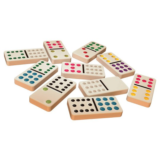 Cardinal Game Gallery Double 12 Color Dot Dominoes image number null