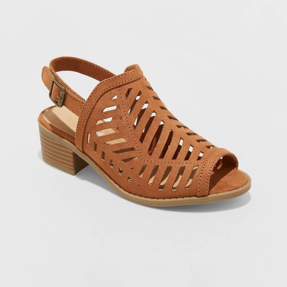 Image of Girls' Alejandra Ankle Booties - Cat & Jack Cognac 13, Toddler Girl's, Red