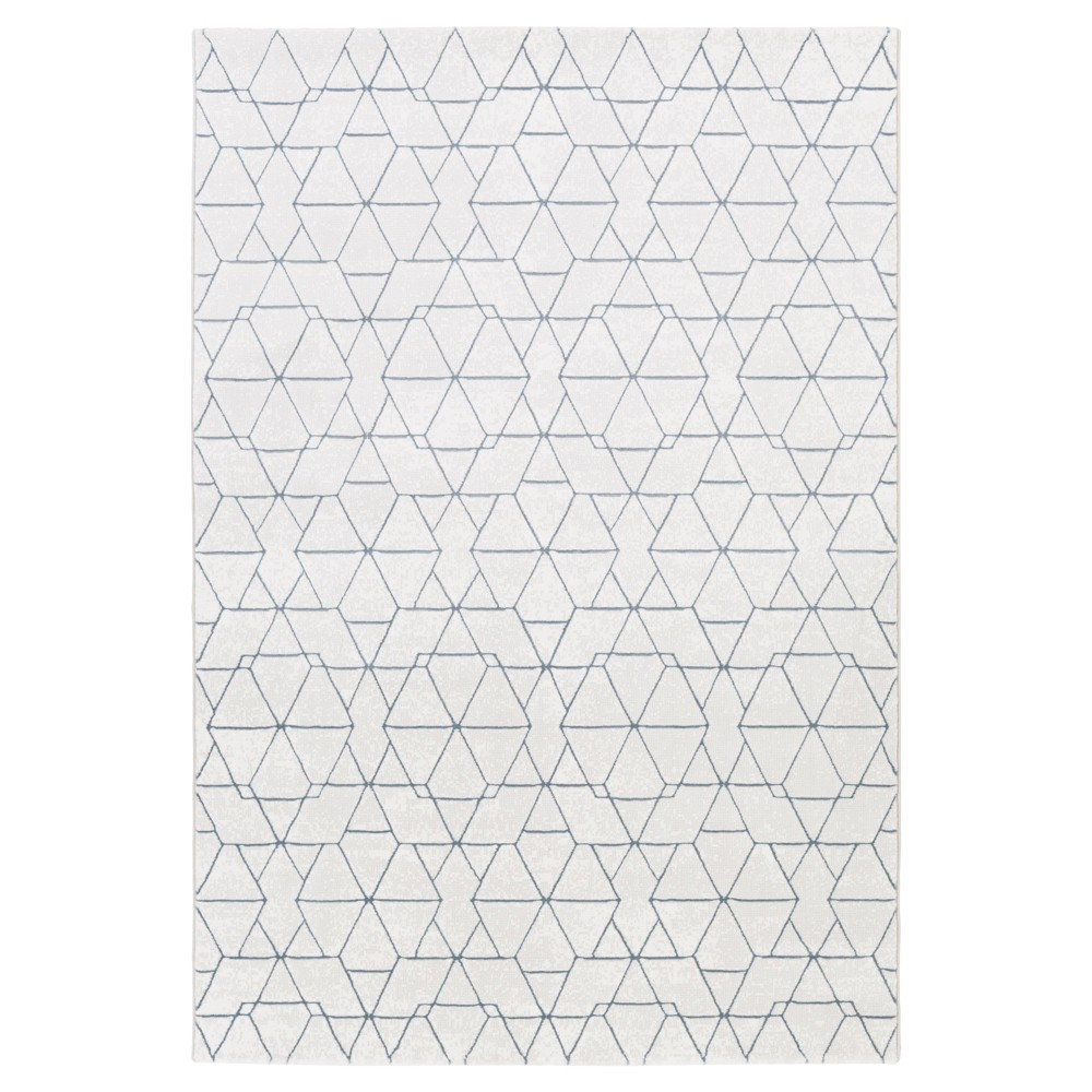 White Abstract Tufted Accent Rug - (4'X6') - Surya