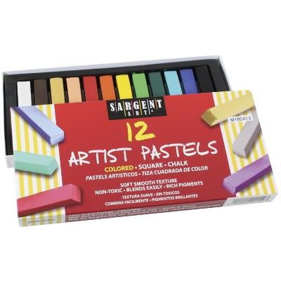 Sargent Art Square Chalk Pastel Set, Assorted Colors, set of 12