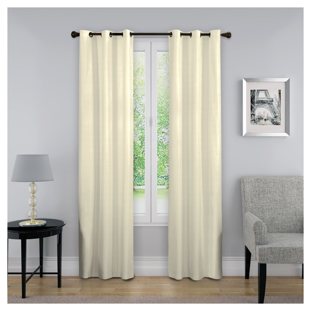 63 34 X40 34 Nikki Thermaback Blackout Curtain Panel Ivory Eclipse