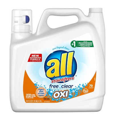 all Ultra Free Clear OXI HE Liquid Laundry Detergent 141oz- 79 loads
