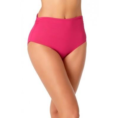 Anne Cole - Women's Convertible High Waist Shirred Swim Bottom