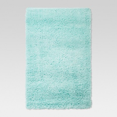 7'X10' Plush Shag Washable Area Rug Aqua - Room Essentials™