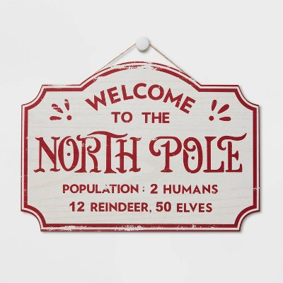 Express North Pole Delivery Christmas Sign White - Wondershop™