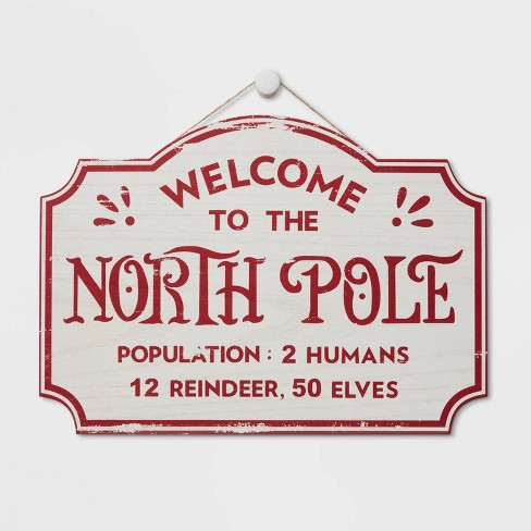 Christmas Sign.Express North Pole Delivery Christmas Sign White Wondershop