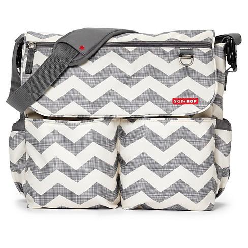 Skip Hop Dash Messenger Diaper Bag Chevron