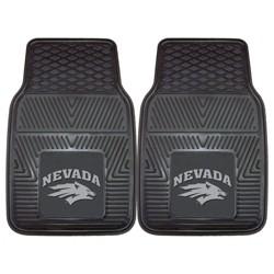 NCAA University of Nevada Vinyl Car Mat Set - 2pc