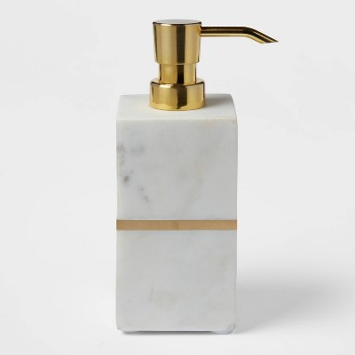 Brass Soap and lotion Dispenser White/Gold - Project 62™