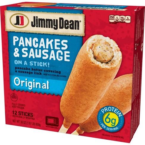 Jimmy Dean Original Frozen Pancakes & Sausage on a stick - 12ct - image 1 of 2