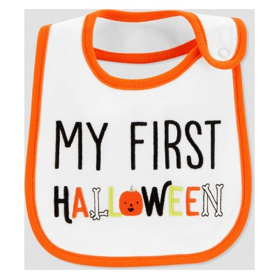 Babys' My First Halloween Bib - Just One You® made by carter's White One Size